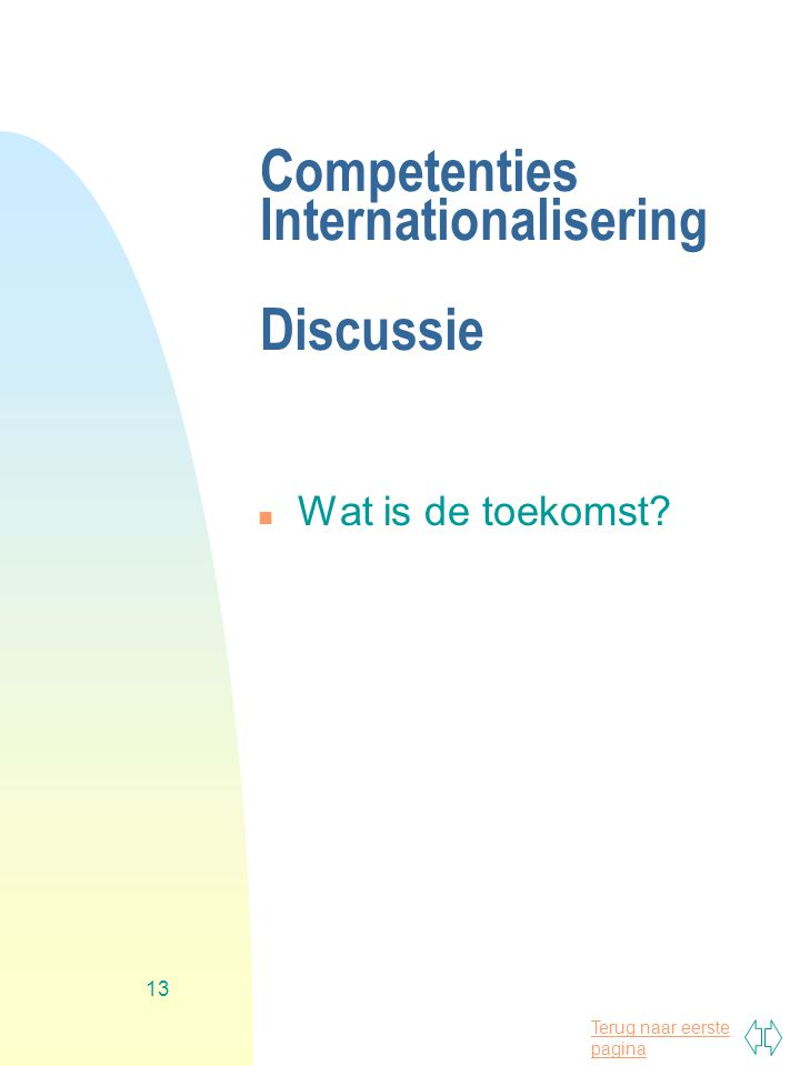 Competenties Internationalisering Discussie