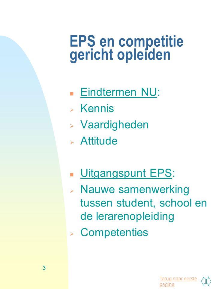 EPS en competitie gericht opleiden
