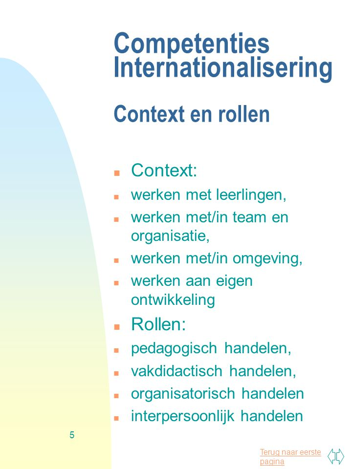 Competenties Internationalisering Context en rollen