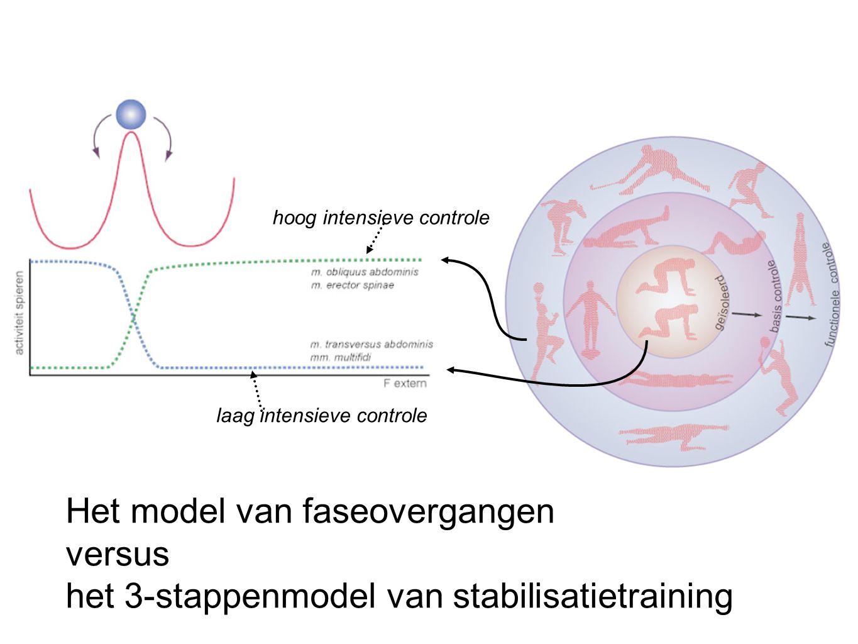 Het model van faseovergangen versus