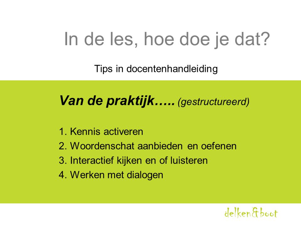 Tips in docentenhandleiding