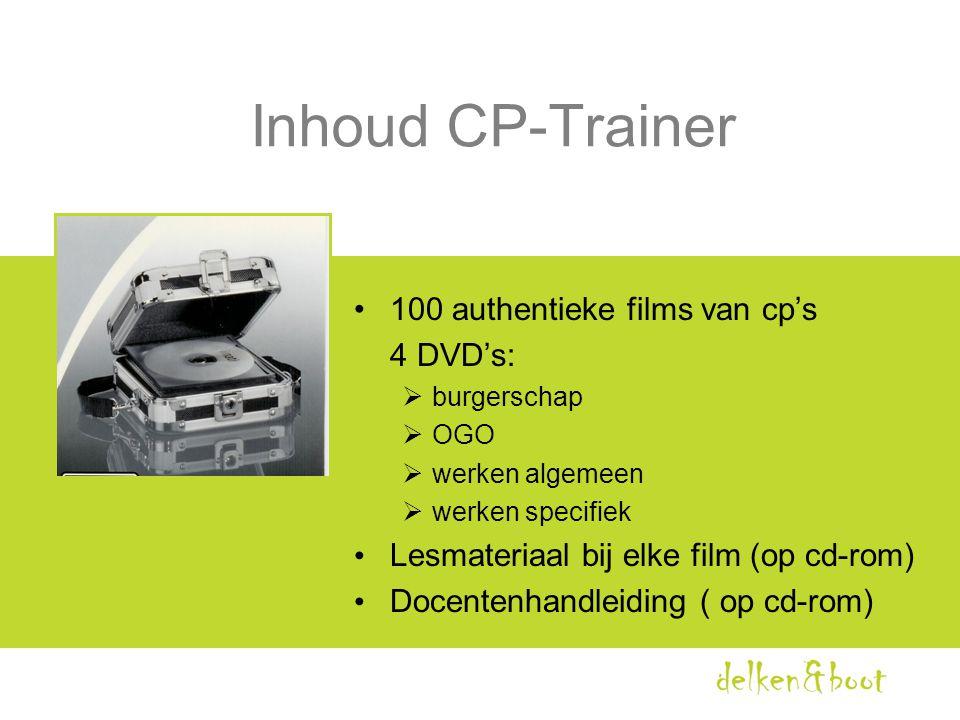 Inhoud CP-Trainer 100 authentieke films van cp's 4 DVD's: