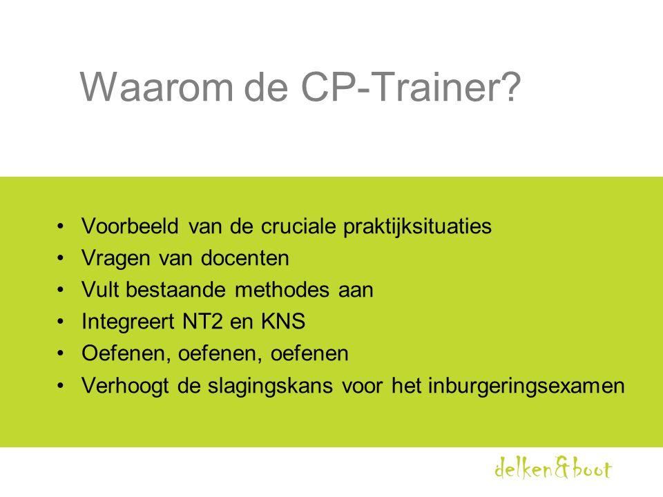 Waarom de CP-Trainer Voorbeeld van de cruciale praktijksituaties
