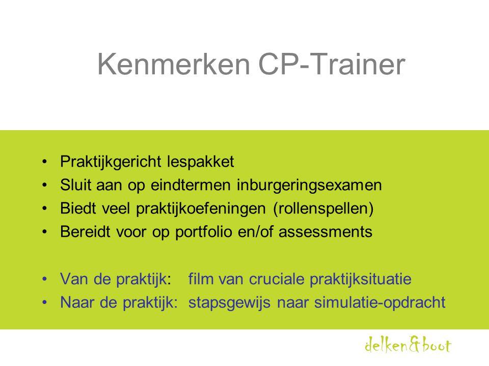 Kenmerken CP-Trainer Praktijkgericht lespakket