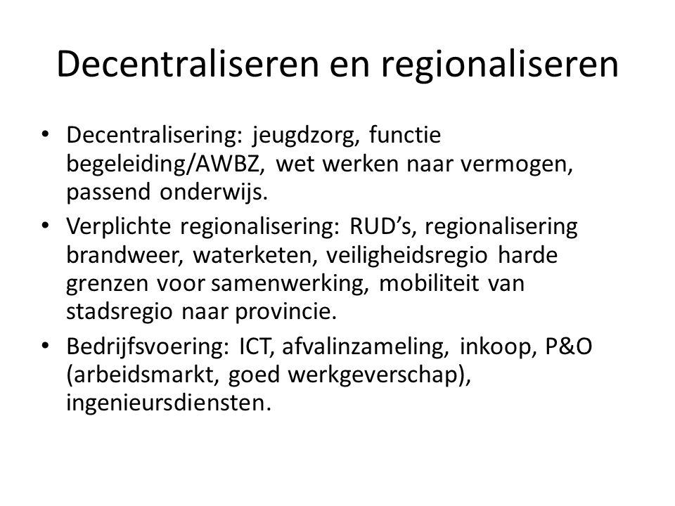 Decentraliseren en regionaliseren