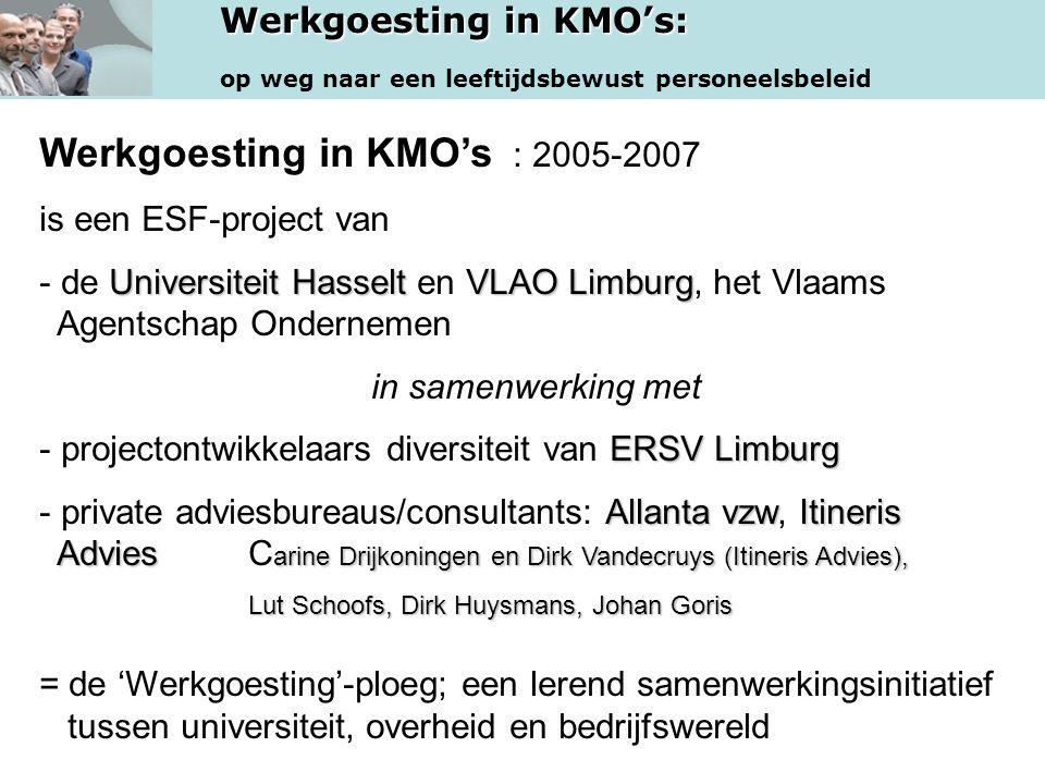Werkgoesting in KMO's : 2005-2007