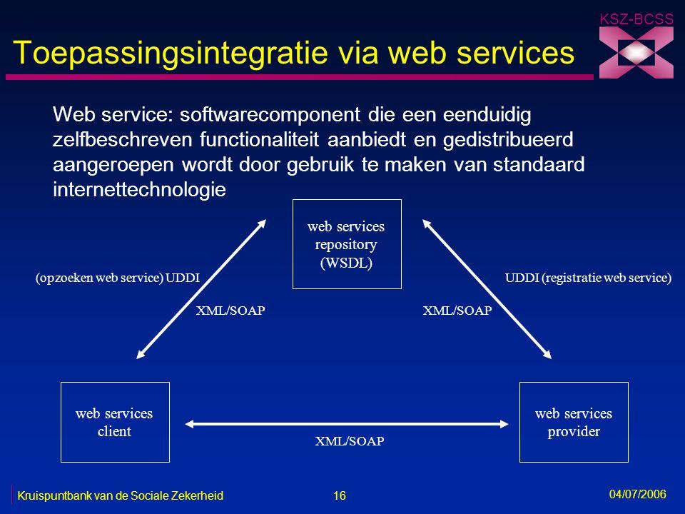 Toepassingsintegratie via web services