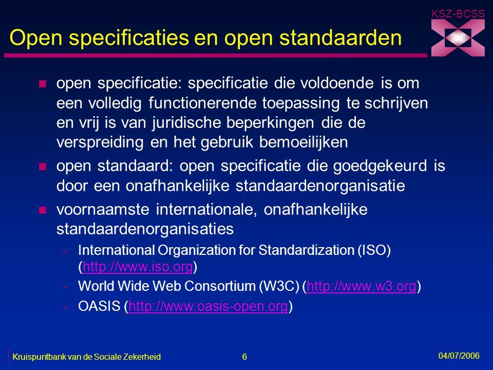 Open specificaties en open standaarden
