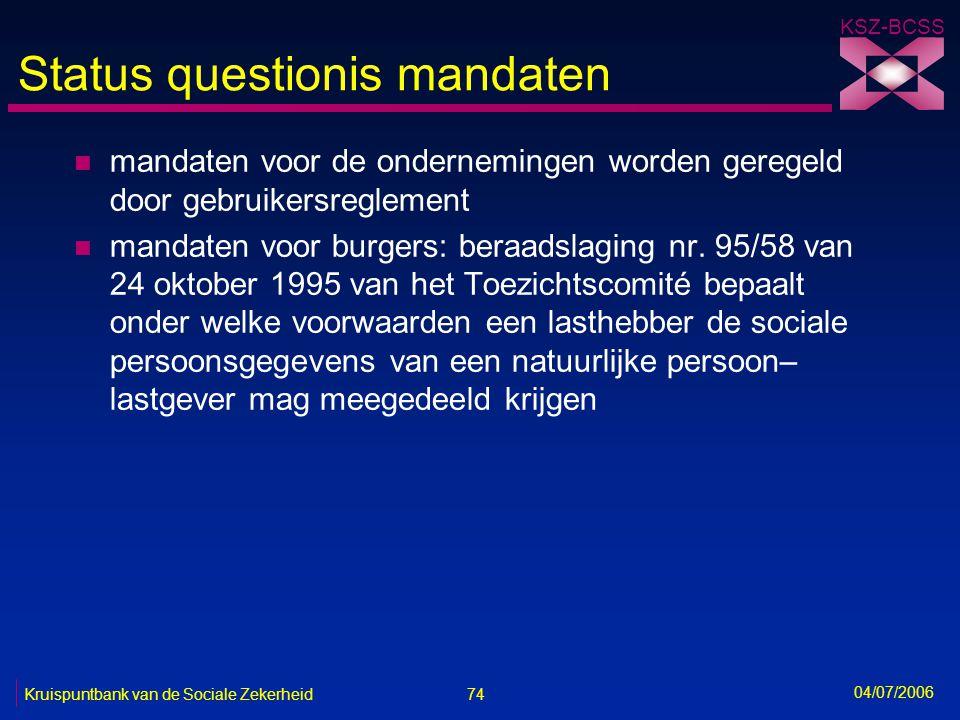 Status questionis mandaten