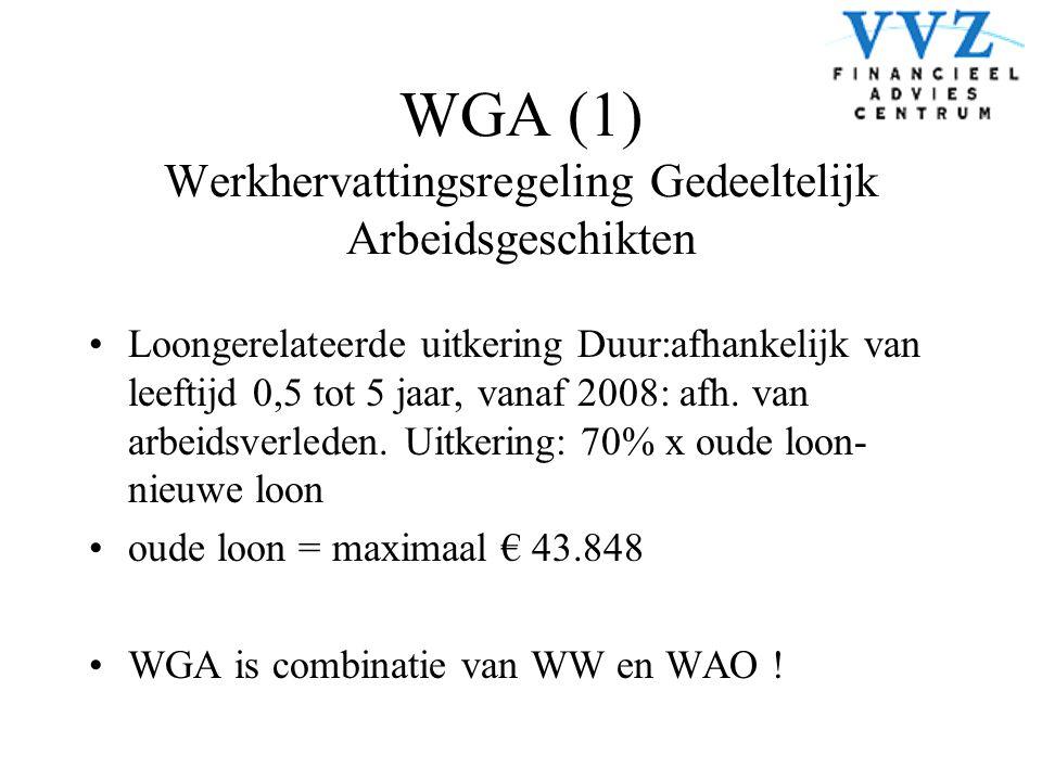 WGA (1) Werkhervattingsregeling Gedeeltelijk Arbeidsgeschikten