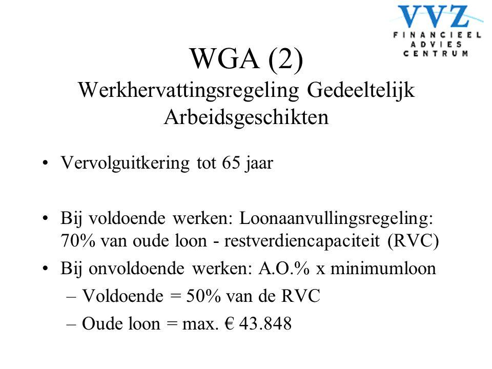WGA (2) Werkhervattingsregeling Gedeeltelijk Arbeidsgeschikten