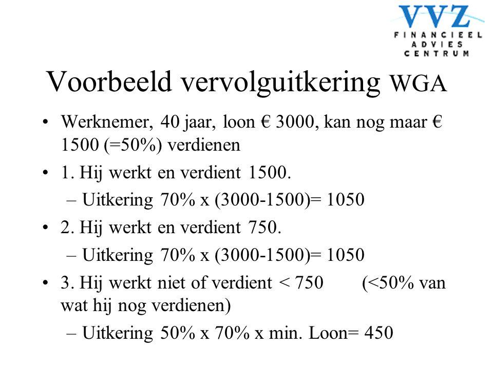 Voorbeeld vervolguitkering WGA