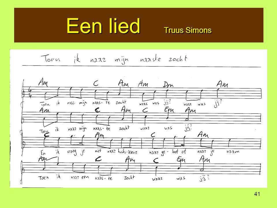 Een lied Truus Simons