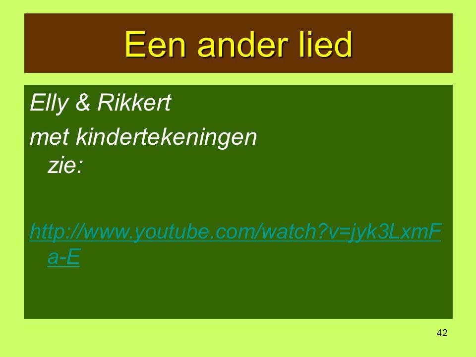 Een ander lied Elly & Rikkert met kindertekeningen Elly & Rikkert