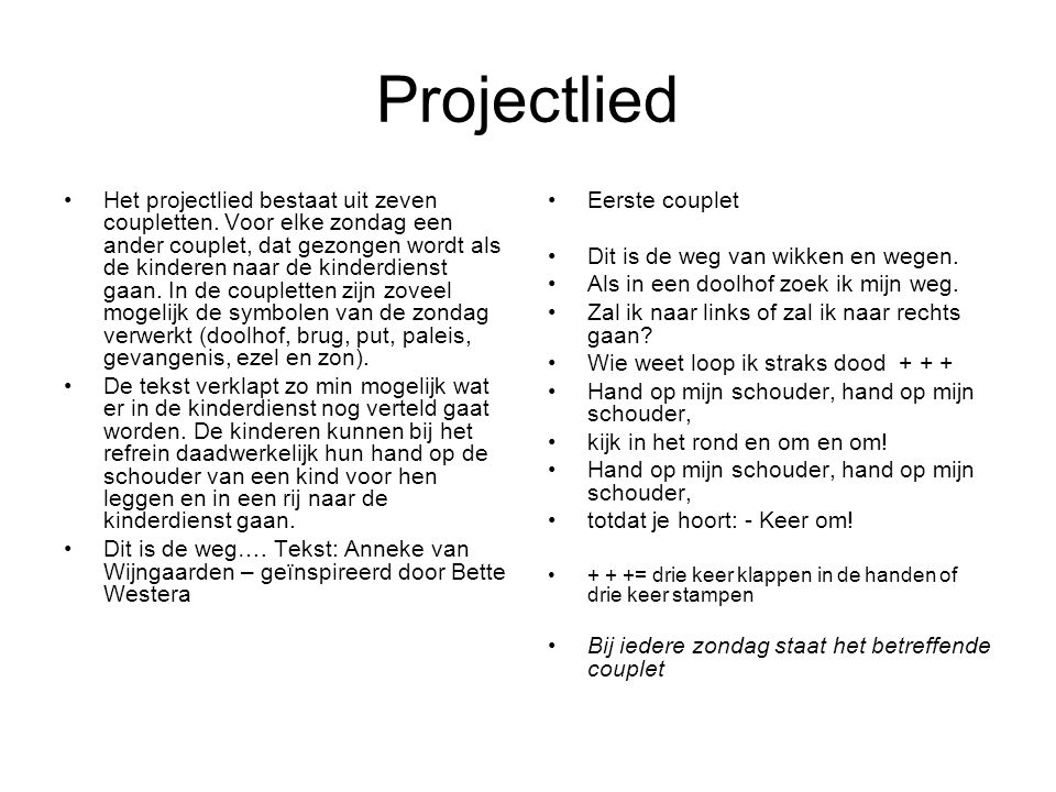 Projectlied