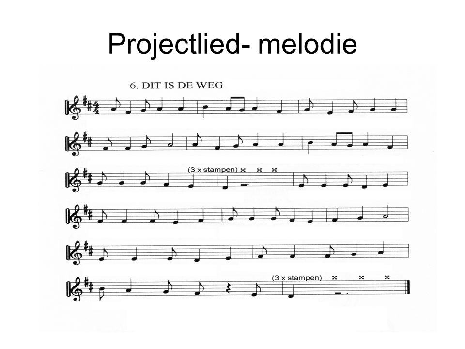 Projectlied- melodie