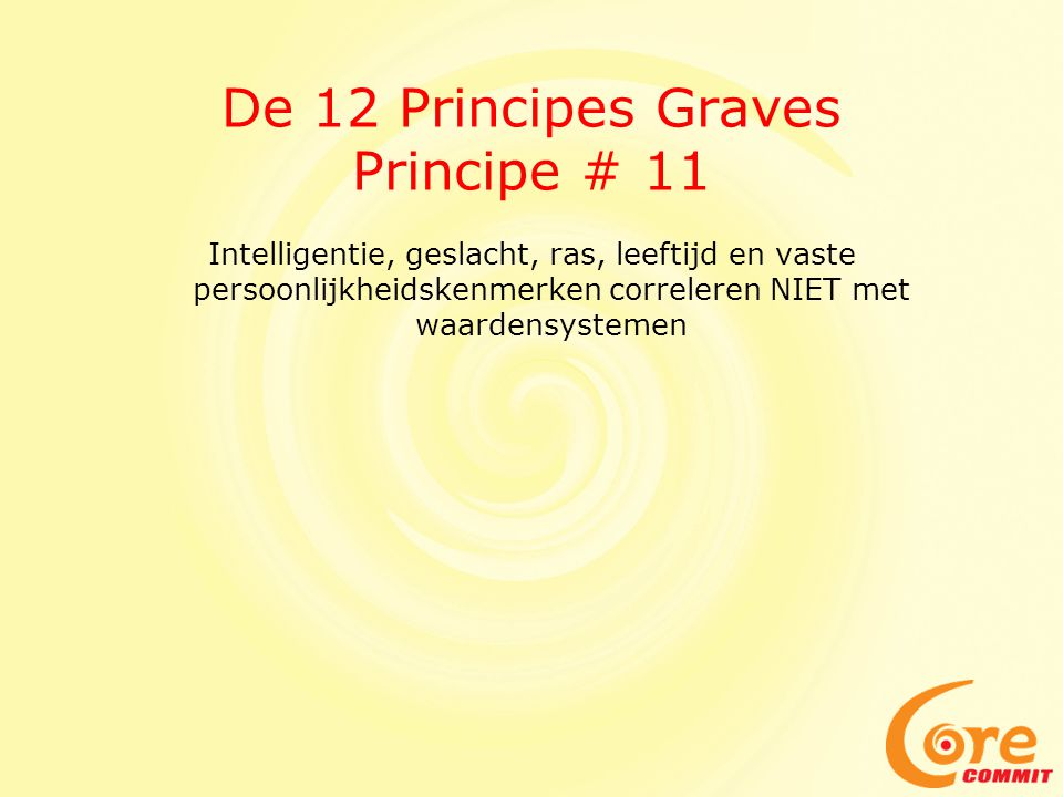 De 12 Principes Graves Principe # 11