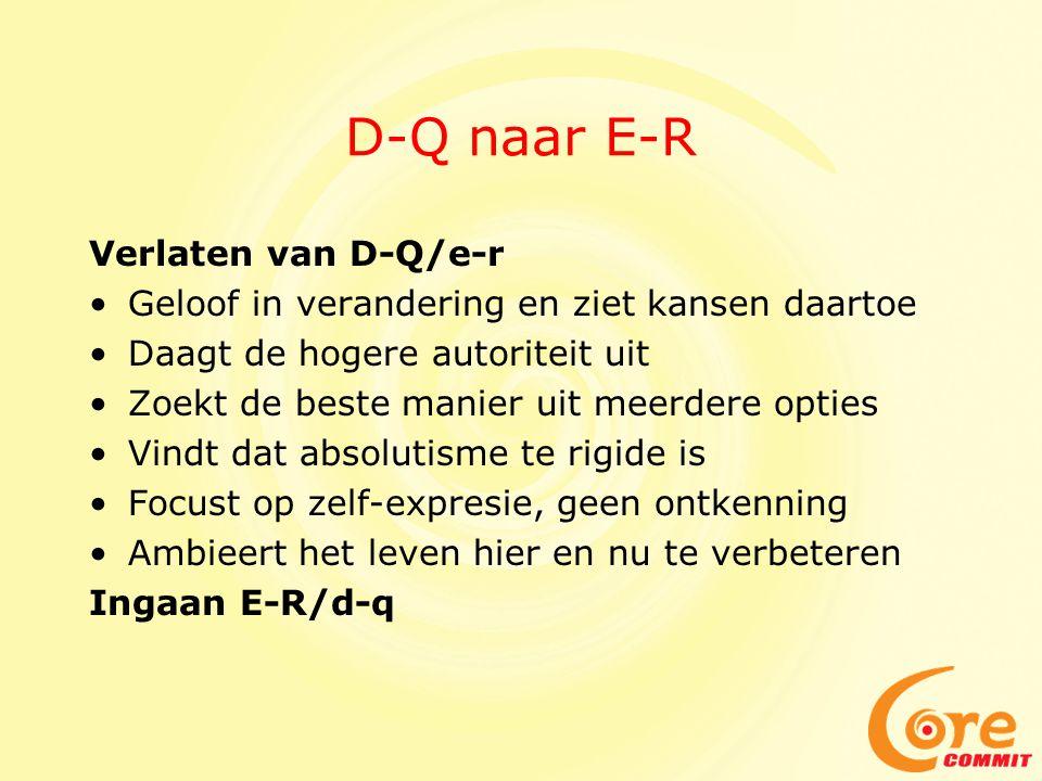 D-Q naar E-R Verlaten van D-Q/e-r
