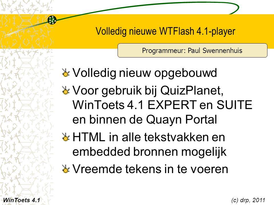 Volledig nieuwe WTFlash 4.1-player