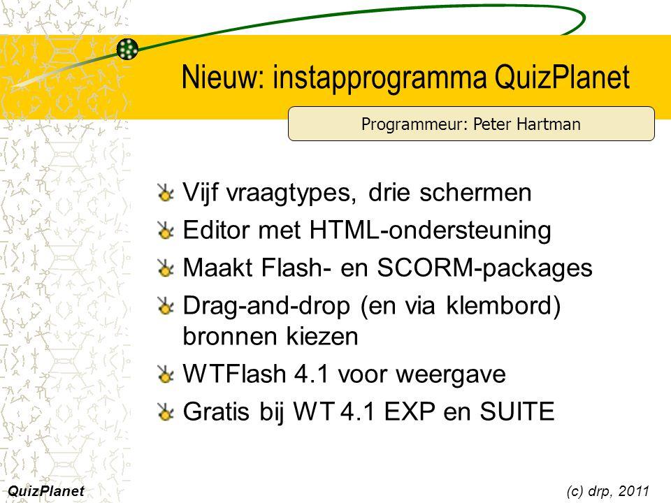 Nieuw: instapprogramma QuizPlanet