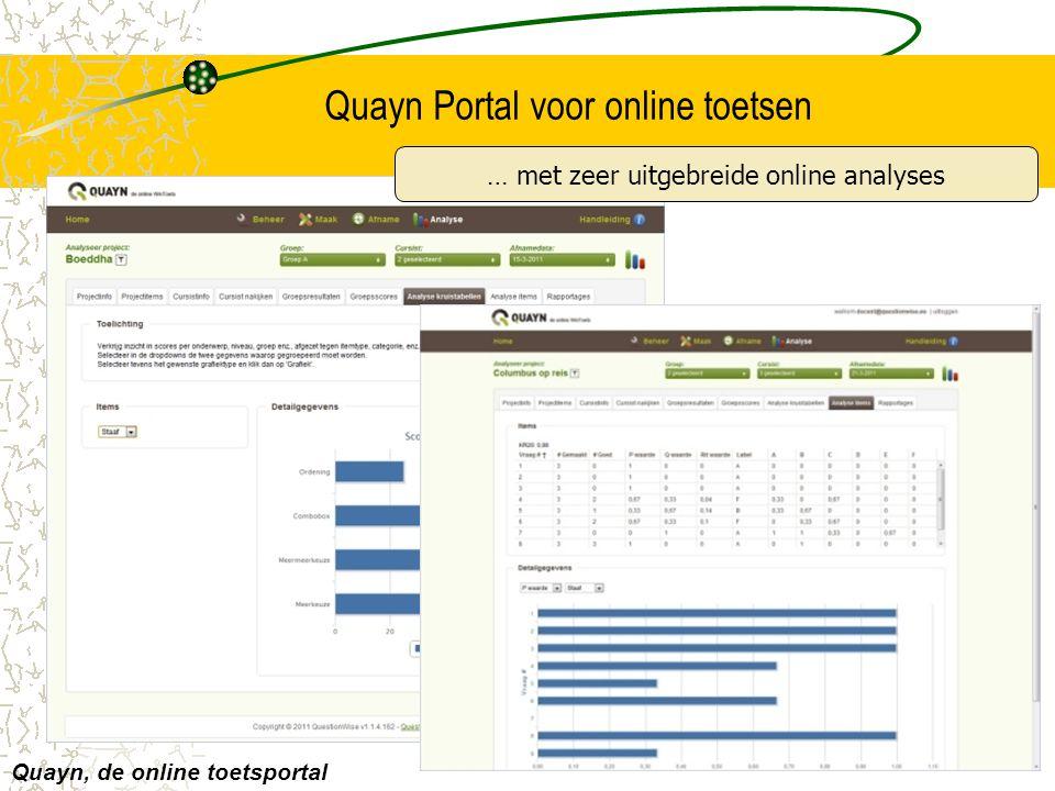 Quayn Portal voor online toetsen
