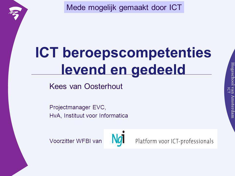 ICT beroepscompetenties levend en gedeeld