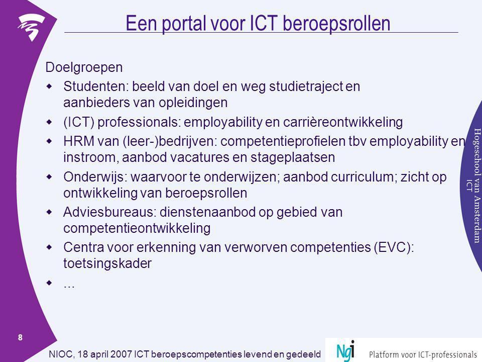 Een portal voor ICT beroepsrollen