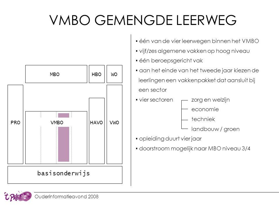 VMBO GEMENGDE LEERWEG basisonderwijs