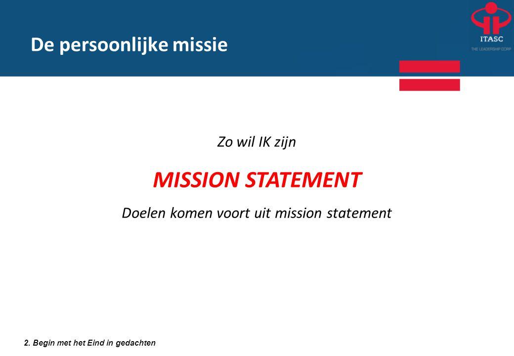 De persoonlijke missie