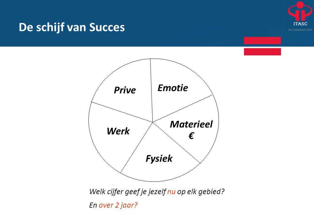 De schijf van Succes Emotie Prive Materieel € Werk Fysiek