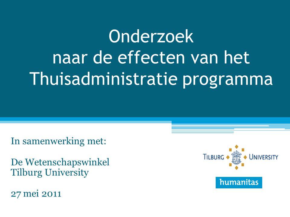 Onderzoek naar de effecten van het Thuisadministratie programma