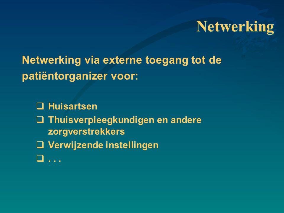 Netwerking Netwerking via externe toegang tot de