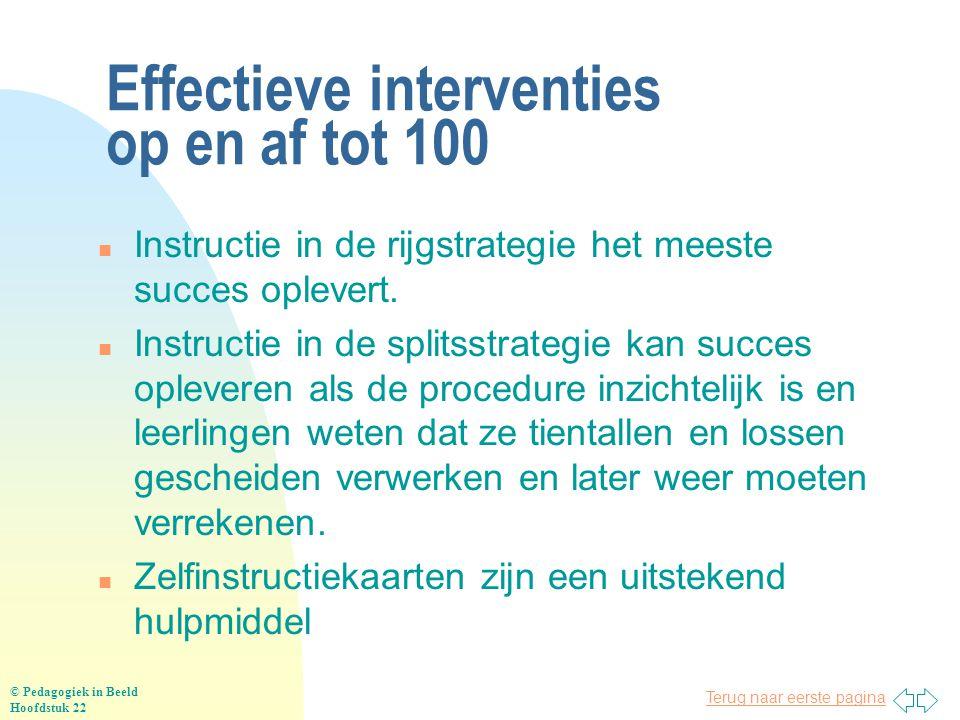 Effectieve interventies op en af tot 100
