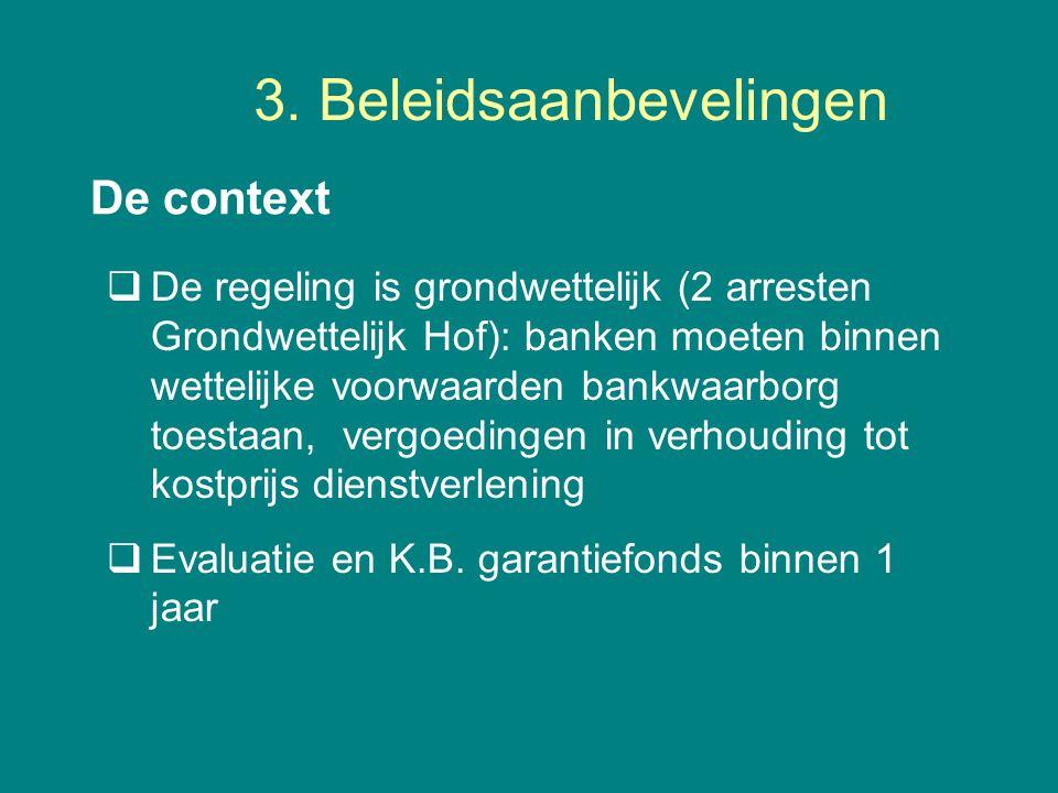 3. Beleidsaanbevelingen