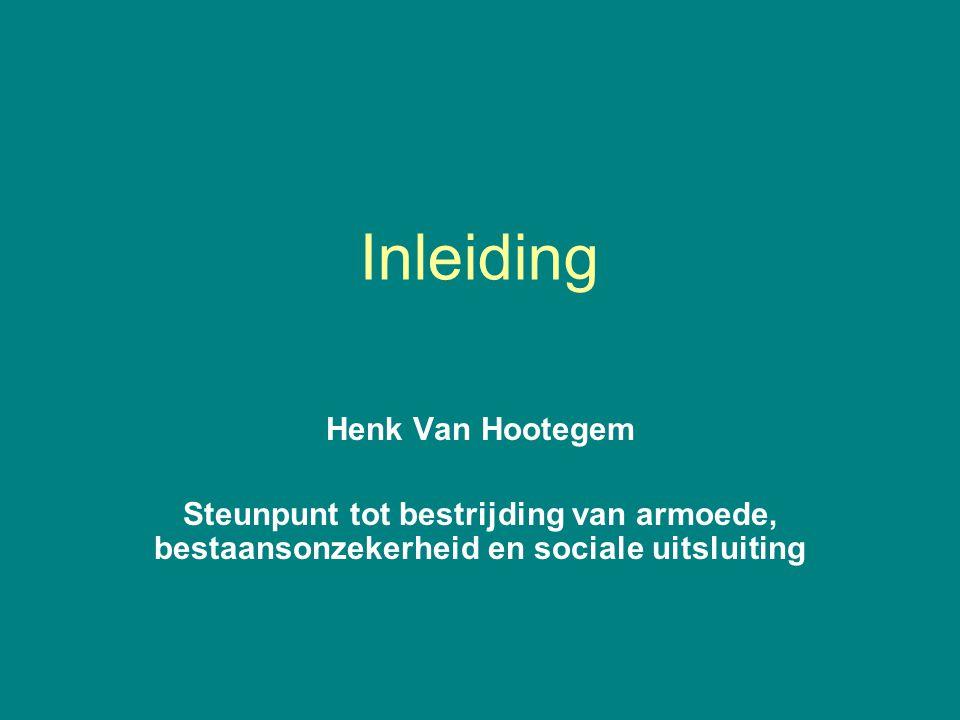Inleiding Henk Van Hootegem