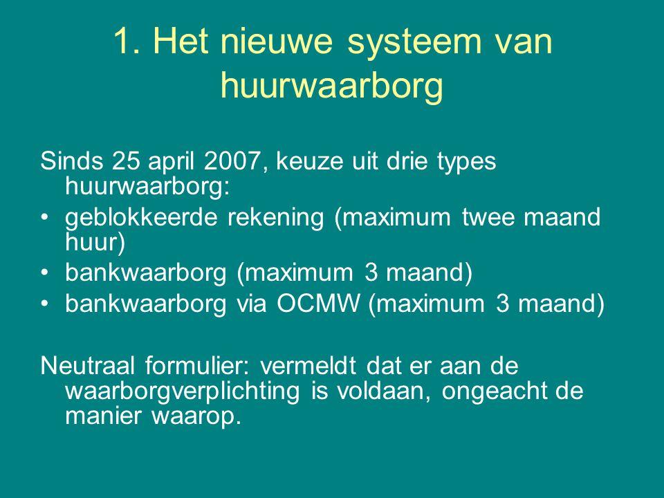 1. Het nieuwe systeem van huurwaarborg