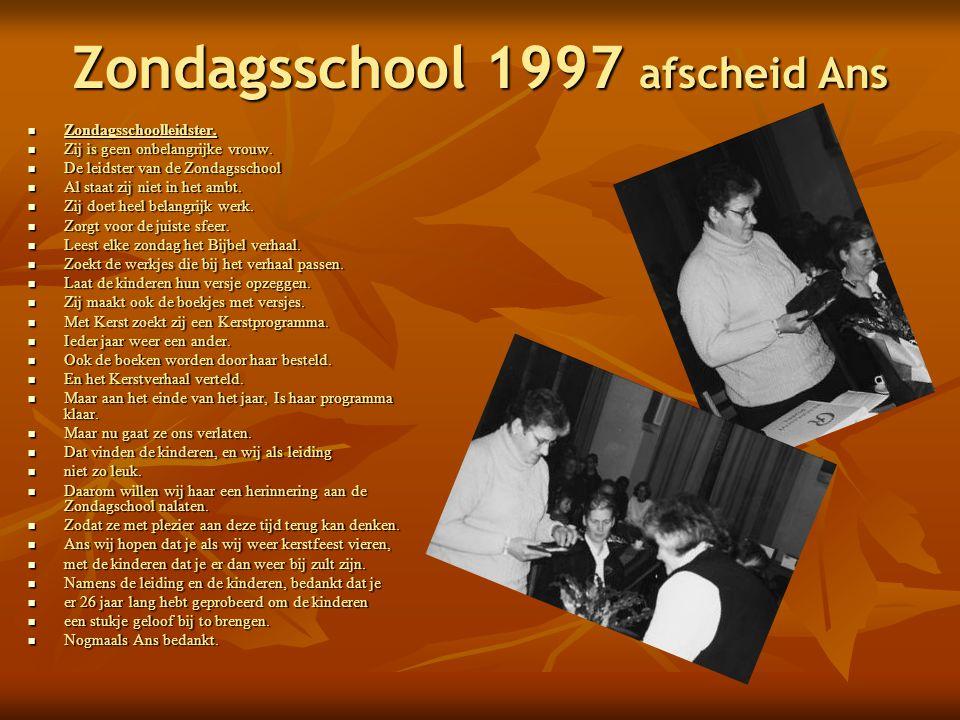 Zondagsschool 1997 afscheid Ans