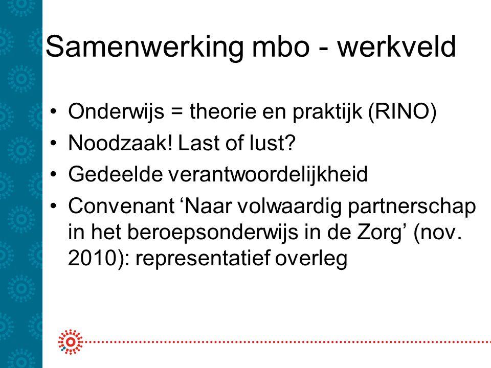 Samenwerking mbo - werkveld