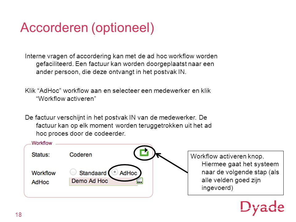 Accorderen (optioneel)