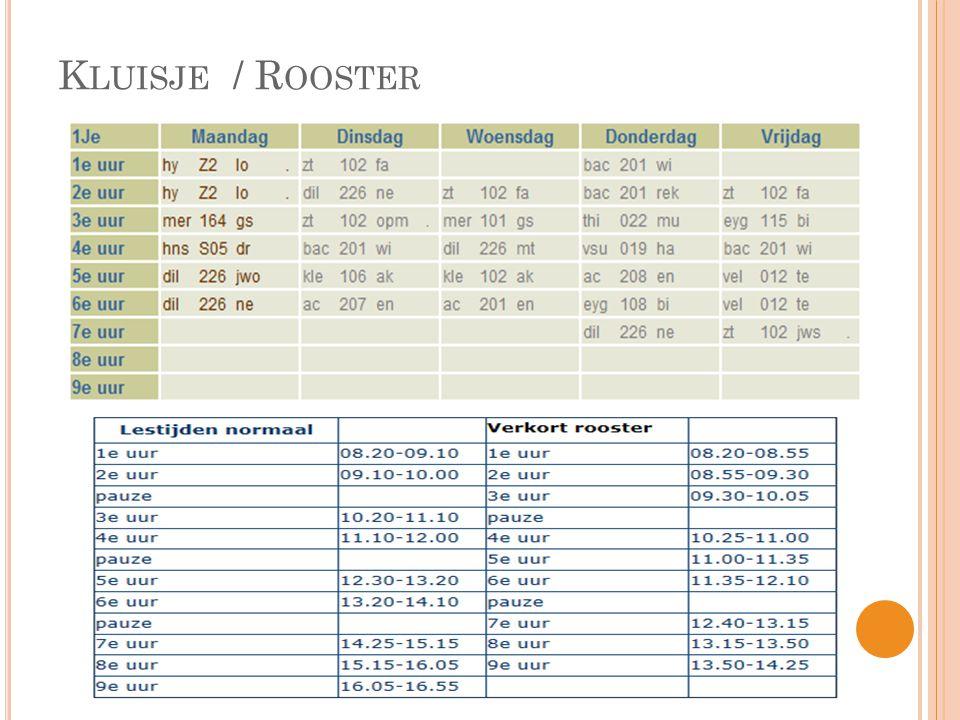 Kluisje / Rooster
