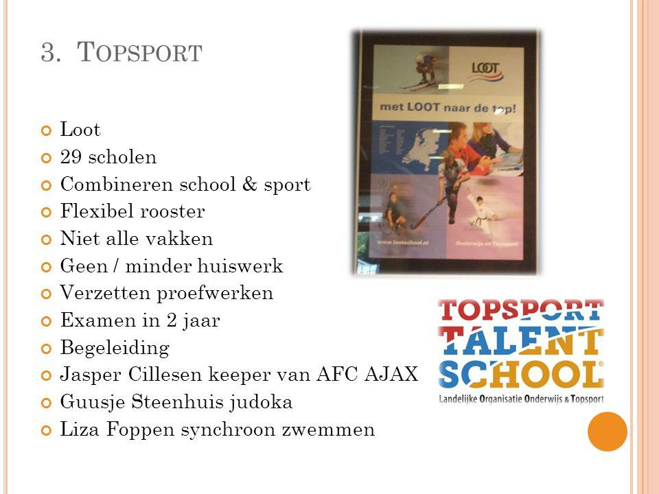 3. Topsport Loot 29 scholen Combineren school & sport Flexibel rooster