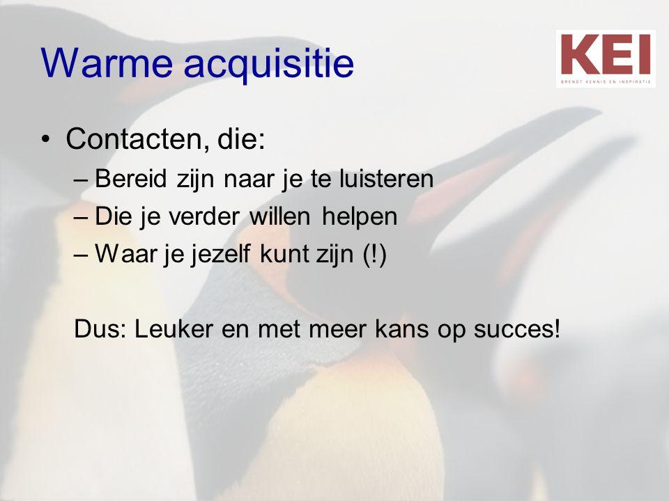 Warme acquisitie Contacten, die: Bereid zijn naar je te luisteren