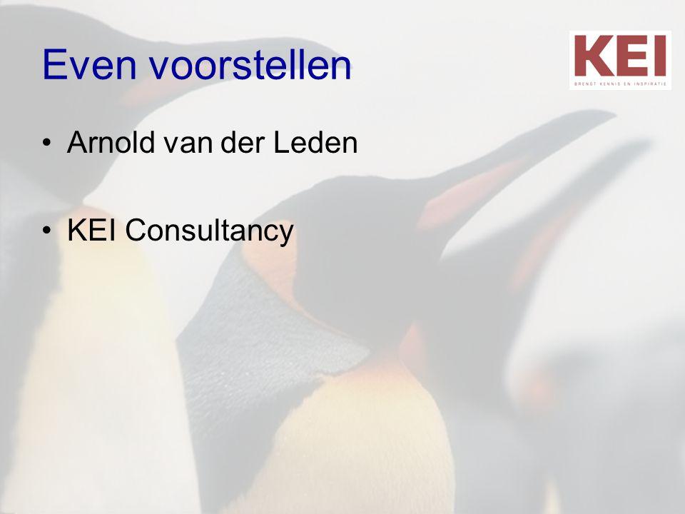 Even voorstellen Arnold van der Leden KEI Consultancy