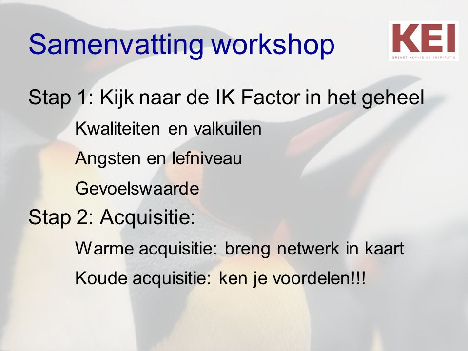 Samenvatting workshop