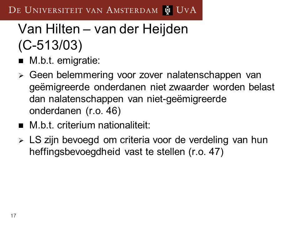 Van Hilten – van der Heijden (C-513/03)