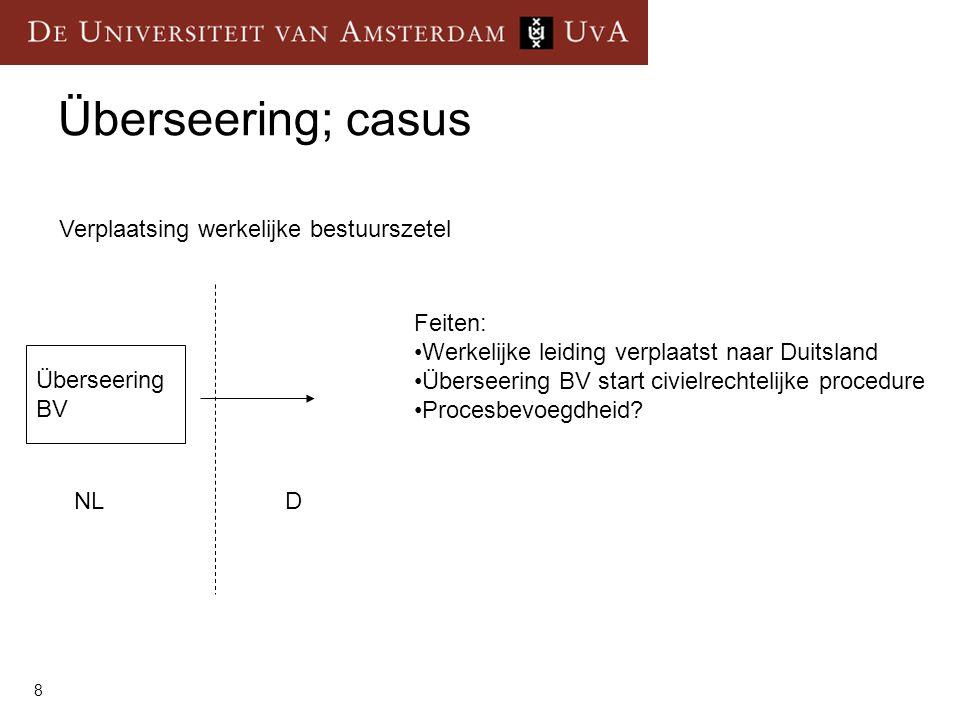 Überseering; casus Verplaatsing werkelijke bestuurszetel Feiten: