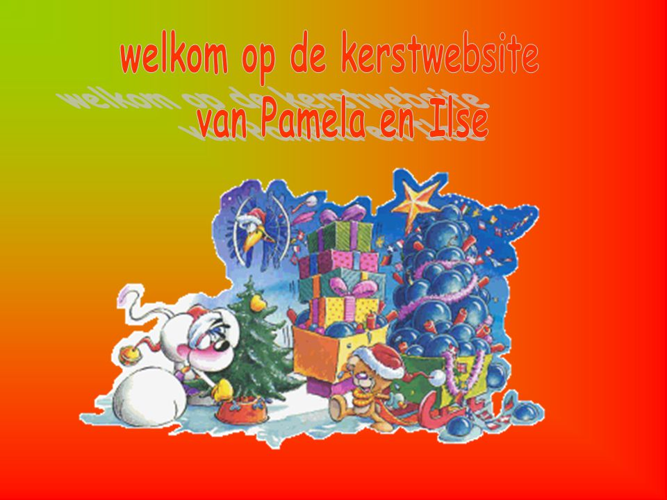 welkom op de kerstwebsite