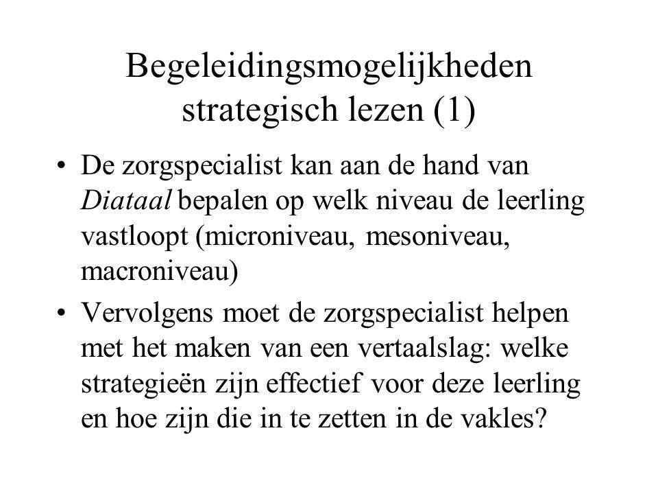 Begeleidingsmogelijkheden strategisch lezen (1)
