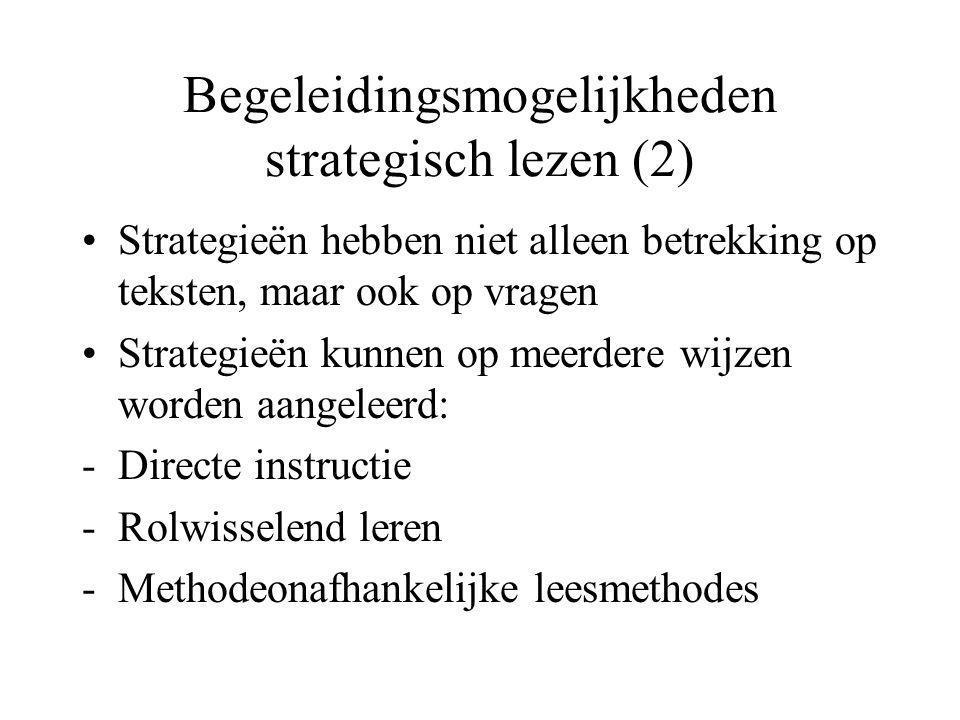 Begeleidingsmogelijkheden strategisch lezen (2)