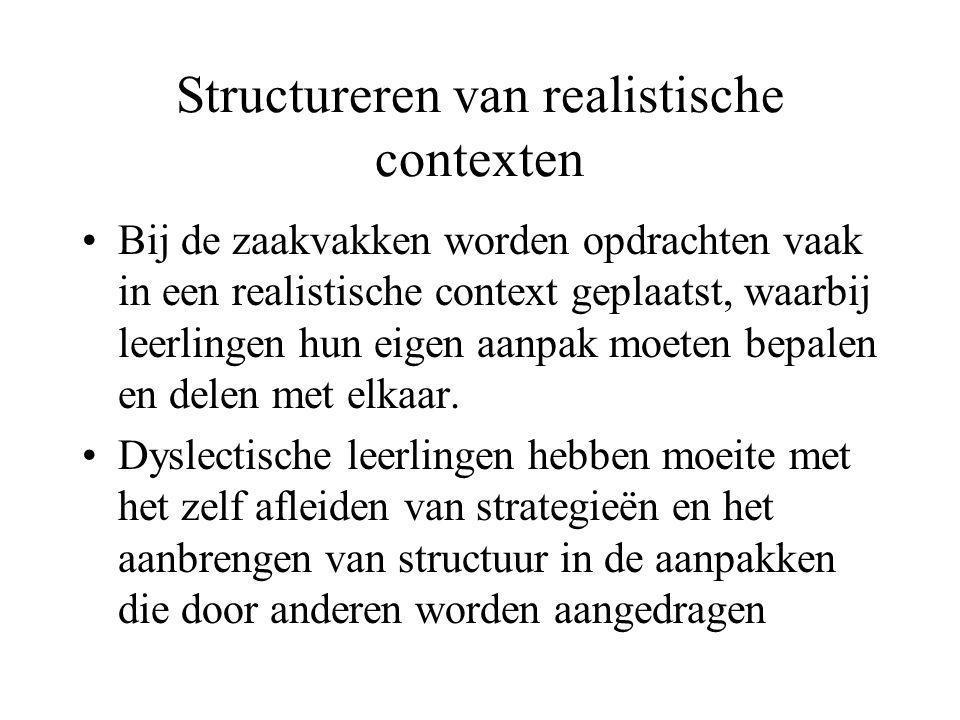 Structureren van realistische contexten
